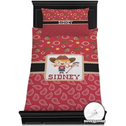 Red Western Duvet Cover Set - Twin (Personalized)