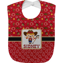 Red Western Baby Bib (Personalized)