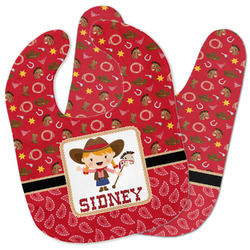 Red Western Baby Bib w/ Name or Text