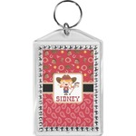 Red Western Bling Keychain (Personalized)