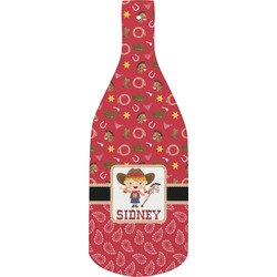 Red Western Bottle Shaped Cutting Board (Personalized)