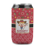 Red Western Can Sleeve (12 oz) (Personalized)