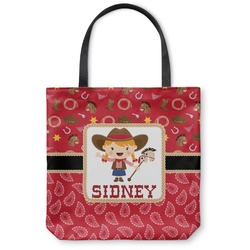 Red Western Canvas Tote Bag (Personalized)