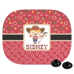 Red Western Car Side Window Sun Shade (Personalized)