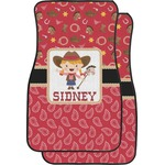 Red Western Car Floor Mats (Front Seat) (Personalized)
