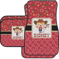 Red Western Car Floor Mats Set - 2 Front & 2 Back (Personalized)