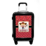 Red Western Carry On Hard Shell Suitcase (Personalized)