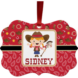 Red Western Ornament (Personalized)