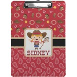 Red Western Clipboard (Personalized)