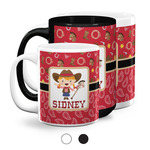 Red Western Coffee Mugs (Personalized)