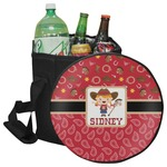 Red Western Collapsible Cooler & Seat (Personalized)