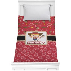 Red Western Comforter - Twin (Personalized)