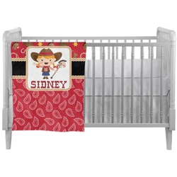 Red Western Crib Comforter / Quilt (Personalized)