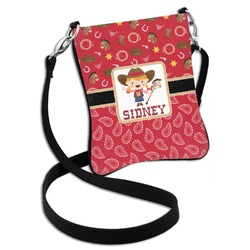Red Western Cross Body Bag - 2 Sizes (Personalized)