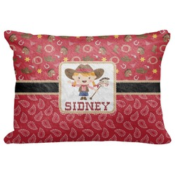 "Red Western Decorative Baby Pillowcase - 16""x12"" (Personalized)"