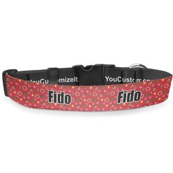 """Red Western Deluxe Dog Collar - Toy (6"""" to 8.5"""") (Personalized)"""