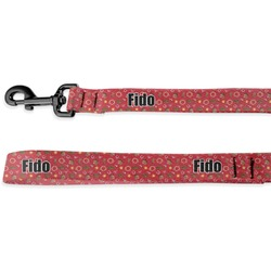 Red Western Deluxe Dog Leash - 4 ft (Personalized)