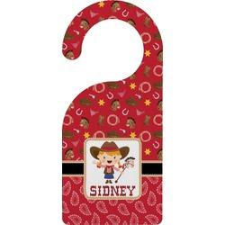 Red Western Door Hanger (Personalized)