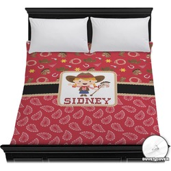 Red Western Duvet Cover (Personalized)