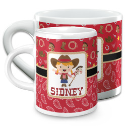 Red Western Espresso Cups (Personalized)