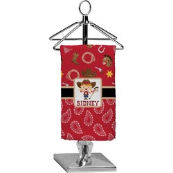 Red Western Finger Tip Towel - Full Print (Personalized)