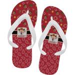 Red Western Flip Flops (Personalized)