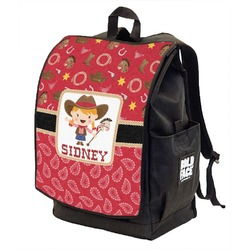 Red Western Backpack w/ Front Flap  (Personalized)