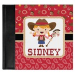 Red Western Genuine Leather Baby Memory Book (Personalized)