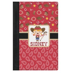 Red Western Genuine Leather Passport Cover (Personalized)