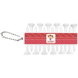Red Western Golf Tees & Ball Markers Set (Personalized)