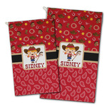 Red Western Golf Towel - Full Print w/ Name or Text
