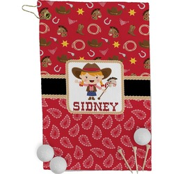 Red Western Golf Towel - Full Print (Personalized)