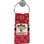 Red Western Hand Towel - Full Print (Personalized)