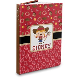 Red Western Hardbound Journal (Personalized)