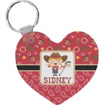 Red Western Heart Keychain (Personalized)