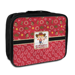 Red Western Insulated Lunch Bag (Personalized)