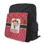 Red Western Kid's Backpack with Customizable Flap (Personalized)