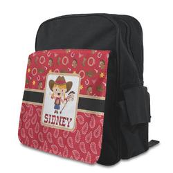 Red Western Preschool Backpack (Personalized)