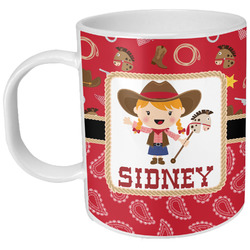 Red Western Plastic Kids Mug (Personalized)