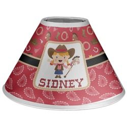Red Western Coolie Lamp Shade (Personalized)