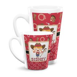 Red Western Latte Mug (Personalized)