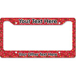 Red Western License Plate Frame (Personalized)