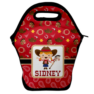 Red Western Lunch Bag w/ Name or Text