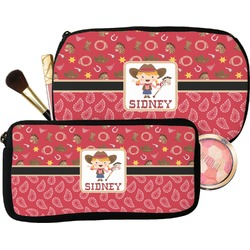 Red Western Makeup / Cosmetic Bag (Personalized)