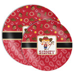 Red Western Melamine Plate (Personalized)