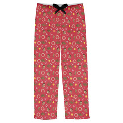 Red Western Mens Pajama Pants (Personalized)