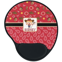 Red Western Mouse Pad with Wrist Support