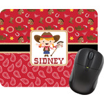 Red Western Mouse Pad (Personalized)
