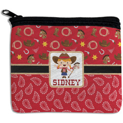 Red Western Rectangular Coin Purse (Personalized)