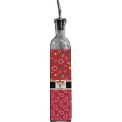 Red Western Oil Dispenser Bottle (Personalized)